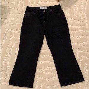 Black topshop cropped jeans